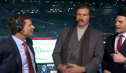 Ron Burgundy Becomes A Play-By-Play Broadcaster