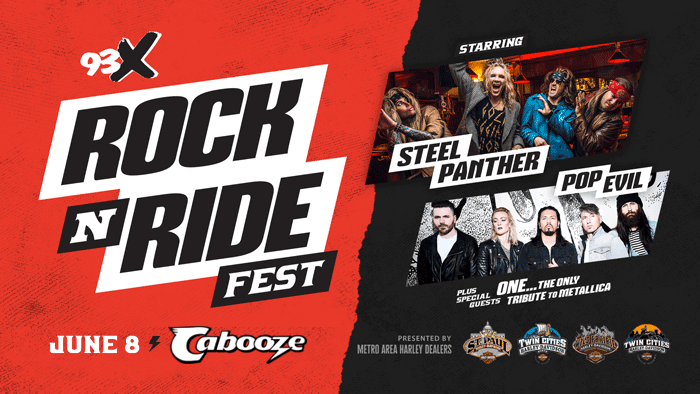 JUN 8 • 93X Rock N' Ride starring Steel Panther and Pop Evil