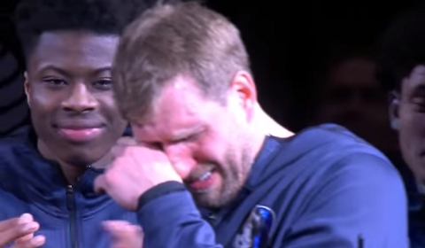 Dirk Nowitzki Brought To Tears During Spurs Tribute Video
