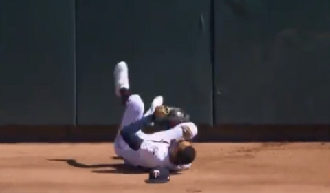Byron Buxton Amazing Catch At The Wall