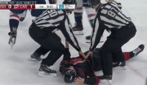 Alex Ovechkin Knocked Out Svechnikov In Game 3