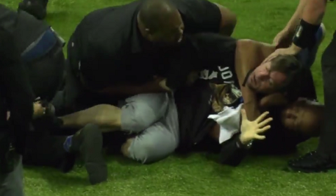 Legends Football League Fan Choked Out Storming Field