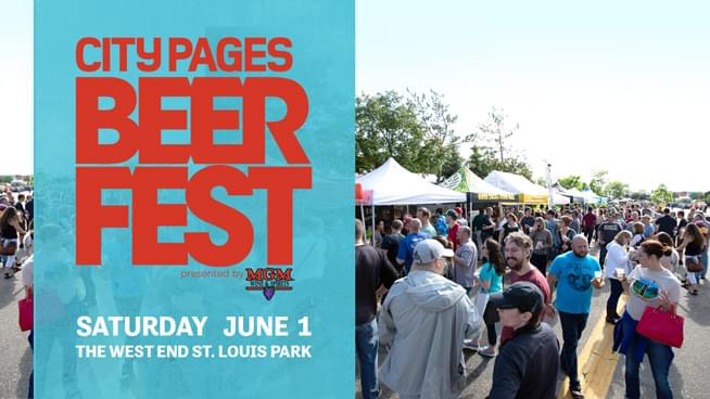 JUN 1 • 93X at City Pages Beer Fest