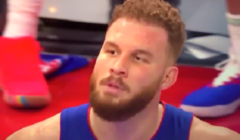 Blake Griffin Joins In On Chant With Fans