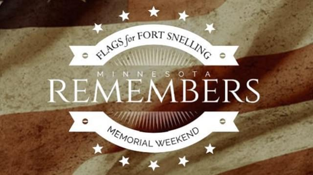 Flags for Fort Snelling