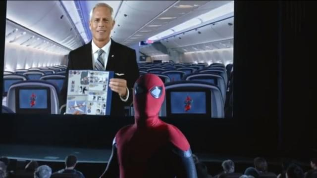 Spider-Man Helps Teach Airplane Safety