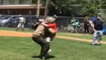 Marine Surprised His Son At Little League Game