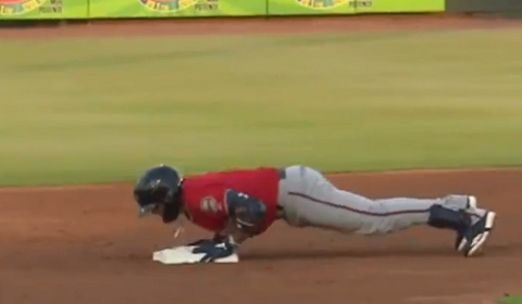 Twins Top Prospect Does Push-Ups On Second Base