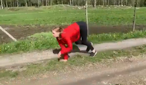 Norwegian Woman Runs Like Horse