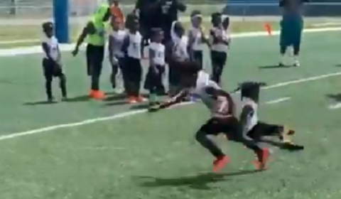 Devin Hester's Son Is Breaking Ankles At Football Camps