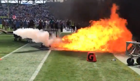 Fire On-Field Minutes Before Tennessee Titans Kick-Off
