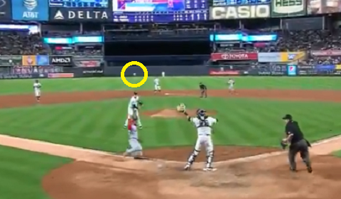 Relief Pitcher Has Worst Throw Home Than 50 Cent