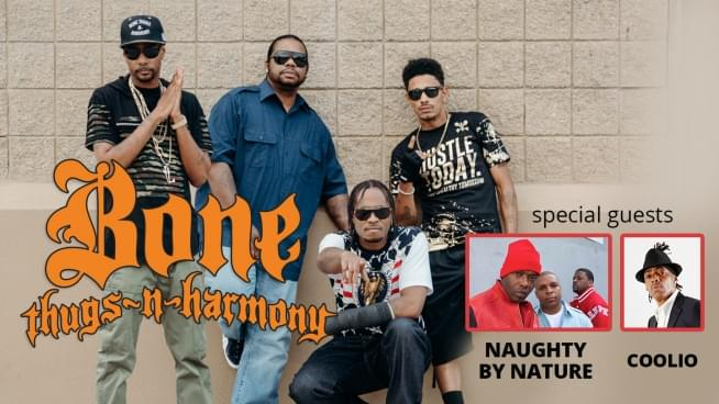 JUL 6 • Bone Thugs-N-Harmony w/ special guests Naughty By Nature & Coolio