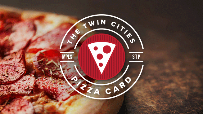 On Sale Now! Twin Cities Pizza Card