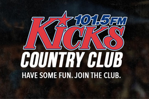 Sign Up To Be A Kicks 101.5 Country Club Member!