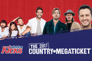 We have your free 2017 Country Megatickets!