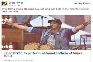 Luke Bryan To Perform National Anthem At Super Bowl