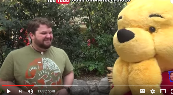 This Guy Did Disney Impressions At Disneyland, And All The Characters LOVED It!