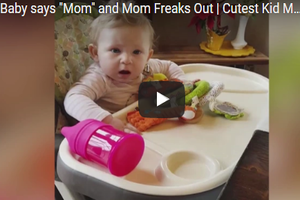 "This Baby Can't Handle Her Mom's Excitement When She Says ""Mama"""
