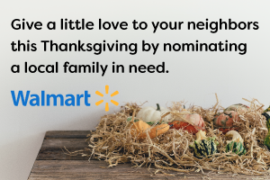 Give a little love to your neighbors this Thanksgiving by nominating a local family in need