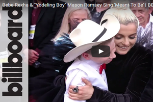 """Watch Mason Ramsey and Bebe Rexha Sing """"Meant To Be"""""""