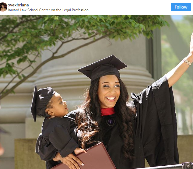 Single Mom Briana Walked Across Harvard's Graduation Stage With Her Baby Girl
