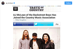 Check Out AJ McLean of BSB's New Country Song