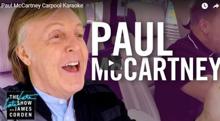 Carpool Karaoke: Paul McCartney Edition!