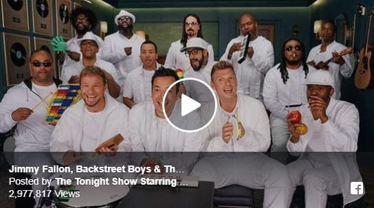 """WATCH: The Backstreet Boys and Jimmy Fallon Perform """"I Want it That Way""""!"""