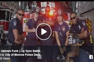 "Watch The Monroe Police Department Lip Sync ""Uptown Funk"""