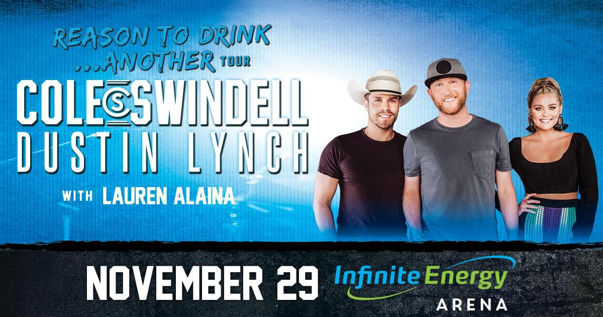 November 29 – Cole Swindell & Dustin Lynch