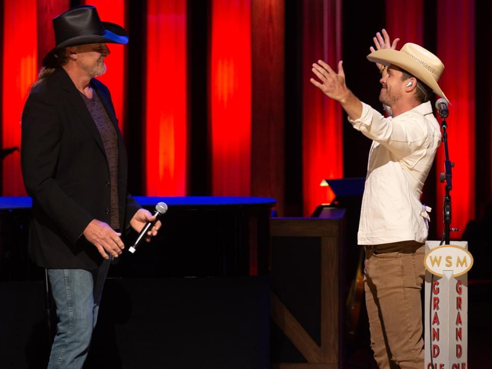 WATCH: Trace Adkins Surprises Dustin Lynch at the Opry!