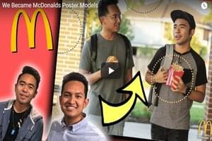 Two Guys Put Up A Poster Of Themselves In McDonald's