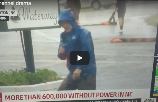 WATCH: Reporter Caught Exaggerating Wind Speed