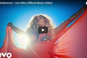 "WATCH: Carrie Underwood's New Music Video for ""Love Wins"""