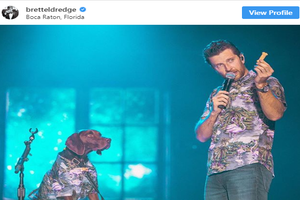 Brett Eldredge and Edgar Boogie Match Outfits!