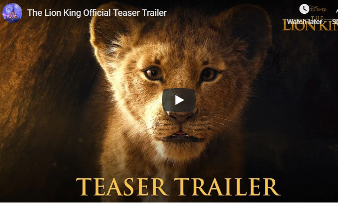 WATCH: The New Lion King Trailer