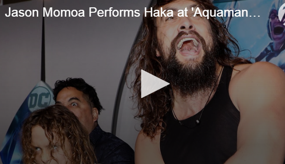 WATCH: Jason Momoa Do A Haka Dance on the Blue Carpet!