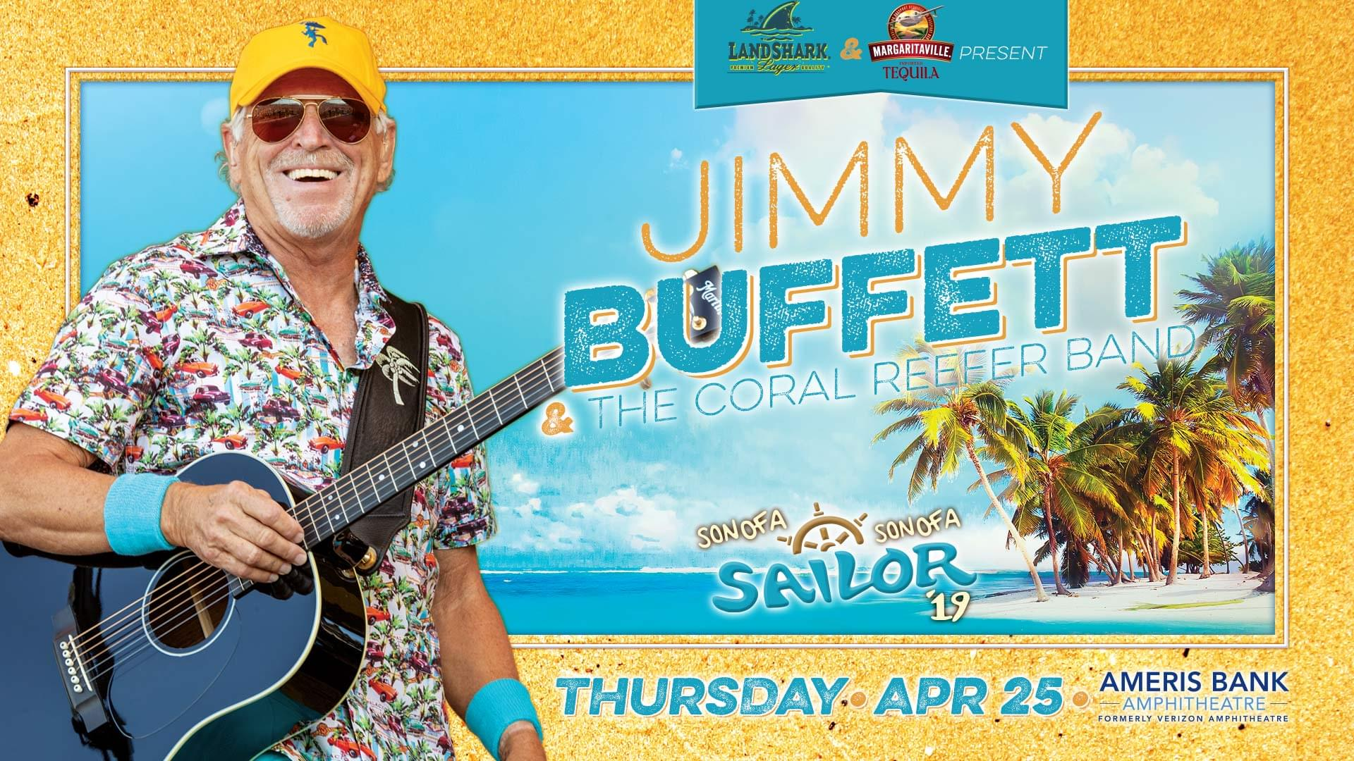 April 25 – Jimmy Buffett & The Coral Reefer Band