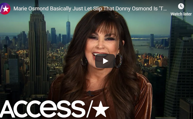 WATCH: Marie Osmond Just Let It Slip That Donny is The Peacock!