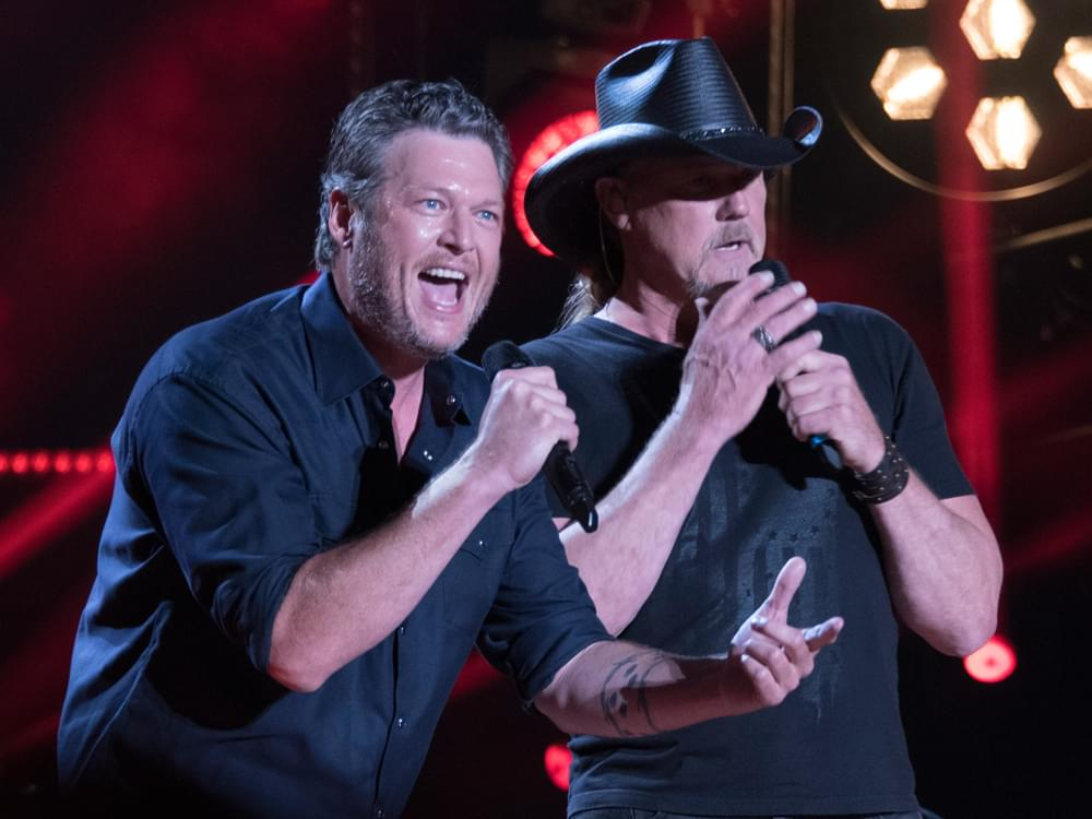 "Listen to Blake Shelton's New Single, ""Hell Right,"" Featuring Trace Adkins"