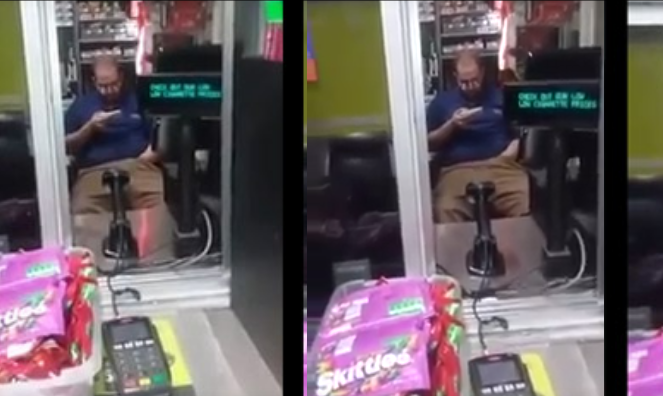 VIDEO: Walmart Gas Station Attendant Caught Buffing His Banana