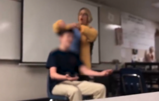 California High Schoolers Flee in Terror As Teacher Loses it, Cuts Students' Hair While Singing Anthem