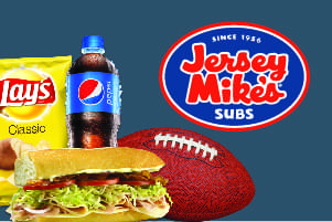 Win a Big Screen TV and Jersey Mike's For A Year!