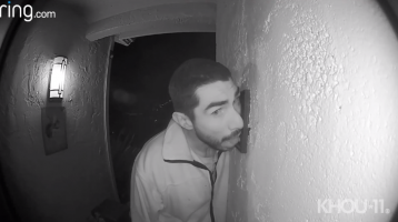 Man caught on video licking doorbell for more than 3 hours
