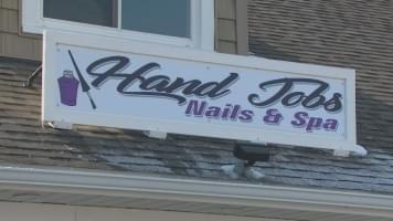 VIDEO: Nail salon name causing quite a controversy