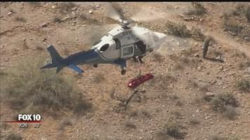 VIDEO: Spinning Helicopter Rescue of Injured Hiker in Arizona