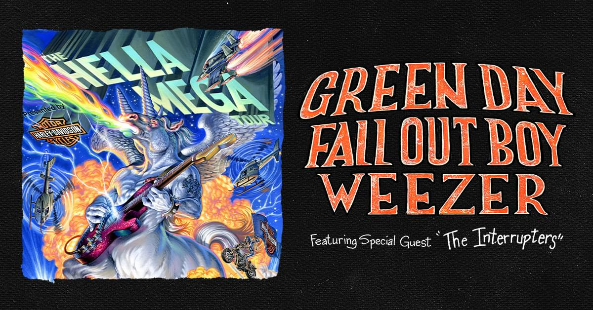 Green Day, Weezer and Fallout Boy Unite for the HELLA MEGA TOUR!