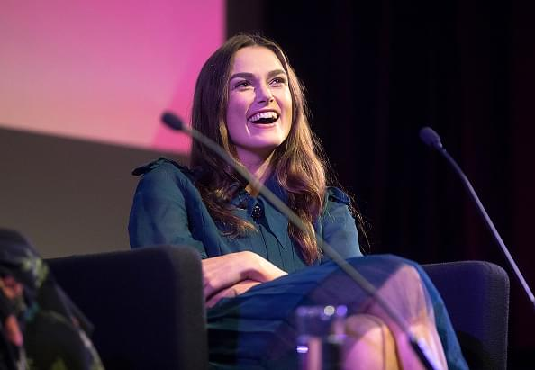 LONDON, ENGLAND - OCTOBER 12:  'Screen Talks' with Keira Knightley during the 62nd BFI London Film Festival on October 12, 2018 in London, England.  (Photo by Tim P. Whitby/Tim P. Whitby/Getty Images for BFI)