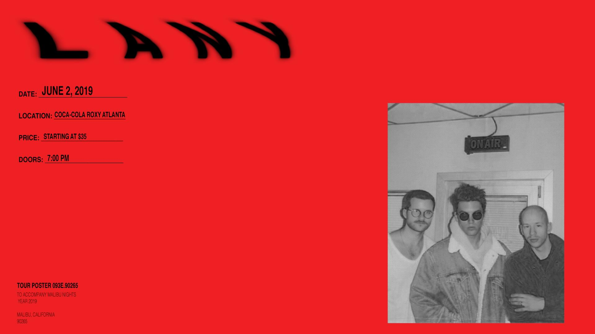 June 2 – LANY